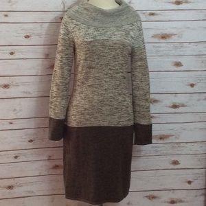 Tahari cowl neck sweater dress size M